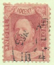 Inde Néerlandaise - Pays Bas - Nederland - Indonésie - 1868 N° 2 oblitéré
