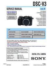 SONY CYBER SHOT DSC-V3 SERVICE & REPAIR MANUAL