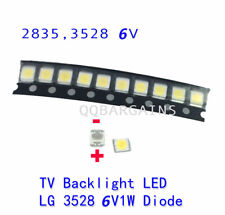 TV Backlight LED Diode LED SMD 3528 6V Coolwhite for Samsung Vizio LG RCA 10PCS