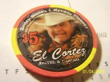 NEVADA CARD ROOM, EL CORTEZ  LV, NV., $5, BENNY BINION, RED W/3 YELLOW    H&C,