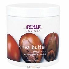 NOW FOODS 100% Natural Shea Butter 7 oz (207ml) Natural Moisturizer Made In USA