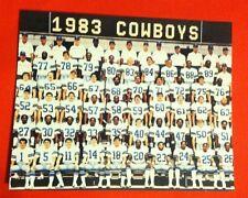 1983 DALLAS COWBOYS Team Picture Photo pic White WALLS Dorsett JONES Pearson