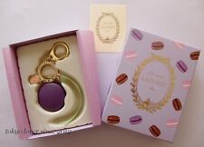 LADUREE Macaron Keychain / Key ring / Bag Charm Violet from Japan New