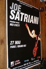 JOE SATRIANI - Affiche promo / French promo poster TOUR !!!