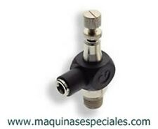"Banjo regulador de caudal 1/8""-Ø4mm Pneumatic fitting. Norgren 10TA00418"