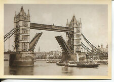 POST CARD OF TOWER BRIDGE IN LONDON, ENGLAND PROBABLY FROM THE 1920-1930 ERA