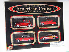 AMERICAN CRUISER PREMIER EDITION FIRE SERIES SET OF 4 1:64 NEW