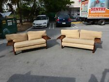 2 Incredible Mid Century Gull Wing Danish Modern Love Seat Sofas P