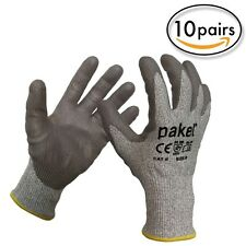 Pakel EN 388 Level 5 High Performance Cut Resistant Gloves Size8(Medium) 10Pairs