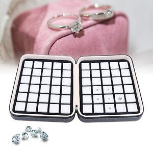 60 Grids Diamond Gemstone Organizer Display Box Jewelry Earrings Storage Box