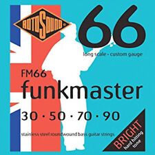 ROTOSOUND FM66 FUNKMASTER STAINLESS STEEL BASS STRINGS - CUSTOM GAUGE, 30-90