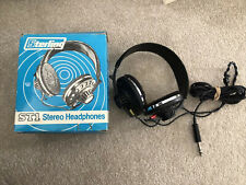 More details for vintage sterling st1 dynamic stereo headphones leather retro long cable black
