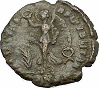 VALENTINIAN I 364AD Authentic Rare Ancient Roman Coin Nike Victory Angel  i50824