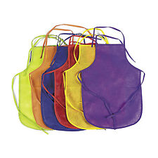 12 Childrens Colorful Fabric Aprons Craft Cooking Baking Party Favors