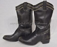 NIB Frye Diana Studded Boots Mid-Calf Women's Size 10 M in Distressed Black