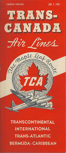 Trans-Canada Air Lines system timetable 1/1/51 [6023] Buy 4+ save 25%