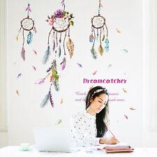 Dream catcher Feathers Windbell Wall Sticker Mural Art Vinyl Decals Home Decor