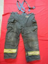 Morning Pride Fire Fighter Turnout Pants 48 X 32 Black Bunker Gear Suspenders