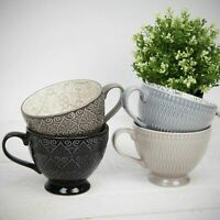 Set of 4 Beautiful Luxury Tea Cups Home Living Patterned Ceramic Cup Mugs Gift