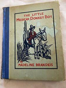 The Little Méxicain Âne Garçon 1931 Antique / Livre Vintage