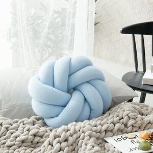 Soft Knot Throw Pillow Ball Cushions Bed Stuffed Pillow Home Decor Ball Plush