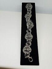 """Stainless Steel Skull Chain Bracelet 7.5"""""""