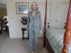 Ann Taylor LOFT Dove Gray Pant Suit Size 6P