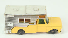 Vintage Husky Toys Ford Camper Yellow With Chrome Camper Soild Gray Wheels