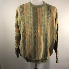 Tundra Coogi Biggie Style Colorful Men's Sweater, Size XL Multi-color Textured