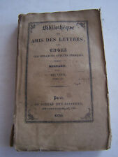 LIVRE ANCIEN POUR COLLECTION , BIBLIOTHEQUE DES AMIS DES LETTRES , REGNARD .1830