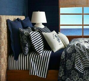 Ralph Lauren Durant Camron Stripe Standard Pillowcases $100 Navy/Cream