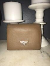 Authentic vintage Tan Prada Trifold Wallet