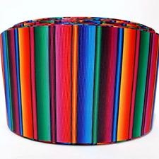 "Grosgrain Ribbon 5/8"", 7/8"", 1.5"", 3"" Fiesta Serape Mexican Blanket Printed"