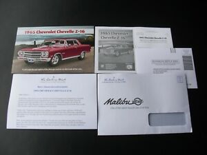 * Danbury Mint 1965 Chevrolet Chevelle Malibu Z-16 Brochure & Literature    *