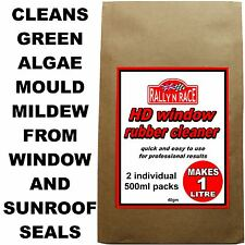CAR WINDOW AND SUNROOF RUBBER SEAL CLEANER REMOVE GREEN MOULD AND ALGAE - FAST -