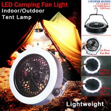 2in1 Portable 12 LED USB Tent Camping Light Outdoor Hiking Lantern with Fan