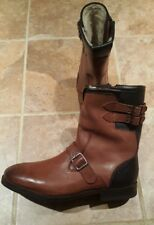 Men TED BAKER riding style Boots with fur SIZE 11 D NWOB