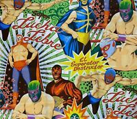 1 YD Alexander Henry SUPER LUCHA LIBRE Cotton Fabric LOOK Wrestling
