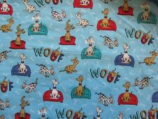 Blue Dr Seuss Which Pet Should I Get Cotton Fabric by the Yard