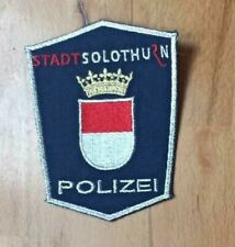 SWISS SWITZERLAND PATCH POLICE POLIZEI STADT CANTON SOLOTHURN - ORIGINAL