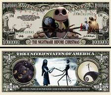 OUR NIGHTMARE BEFORE CHRISTMAS DOLLAR BILL (2 Bills)