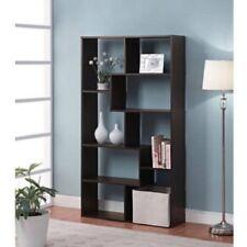 Tall Bookcase Cubby large Open Bookshelf Cube 8 Shelf Display Espresso Bookcase