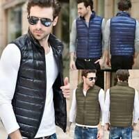 US Mens Down Jacket Vest Winter Outwear Coats Sleeveless Packable Lightweight A8