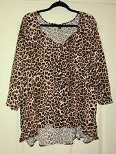 Torrid Top Button Front Leopard shirt. Sz 3 x Euc