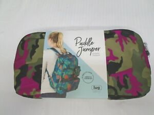 New LUG Puddle Jumper Packable Backpack Camo  Orchid  Pink