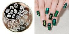 Nail Art Stamping Plates Image Plate Decoration Halloween Skull Web Gothic he46