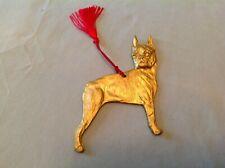 Boston Terrier X-mas ornament, gold