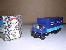 "Herpa #814294 Mercedes Lp813 Covered Truck ""Blue"" H.O.Gauge"