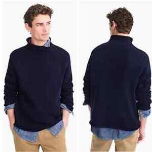 J. Crew Always Navy Blue Rollneck Pullover Sweater