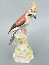 Großer Eichelhäher, Vogel Figur, Potschappel Dresden, Höhe 38,5 cm